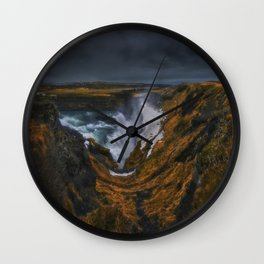 The Canyon of Olfusa Wall Clock