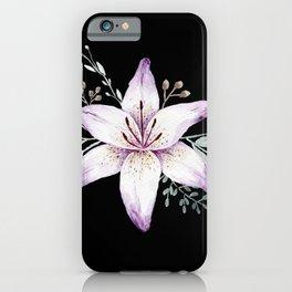 Lilium black iPhone Case