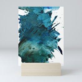 Scenic Route [2]: a pretty, minimal abstract piece in blue and green by Alyssa Hamilton Art Mini Art Print