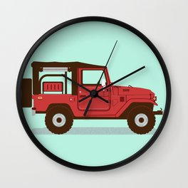Toyota Landcruiser FJ40 Soft Top Wall Clock