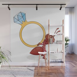 ant with big ring Wall Mural