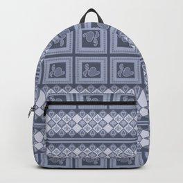Ornament color blue . Backpack