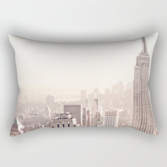 New York City Above the Cityscape Rectangular Pillow