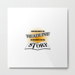 Story Metal Print