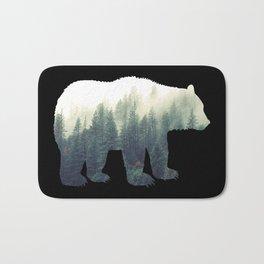 Misty Forest Bear Bath Mat
