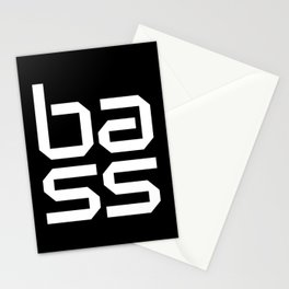 Bass Block Music Quote Stationery Cards