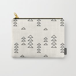 Minimalist Triangle Line Drawing Carry-All Pouch