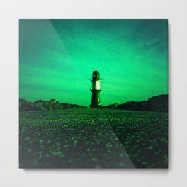 GREEN LIGHTHOUSE Metal Print