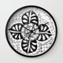Black and White Talavera Six Wall Clock