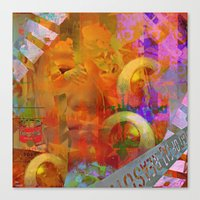 weird Canvas Prints featuring Weird by Joe Ganech