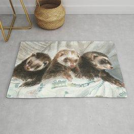 Lovely ferrets Rug