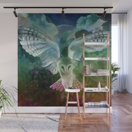 """Owl flight and spring night"" Wall Mural"