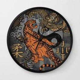 Jiu Jitsu Tiger and Dragon Art, Yin Yang, Martial Arts, Bjj Mma, Japanese Wall Clock