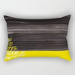 Take me to ... Paris, London or New York Rectangular Pillow
