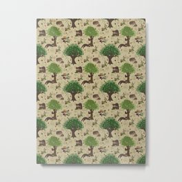 Mr Pine Marten's woodland adventure Metal Print