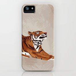 Tiger Stretch iPhone Case