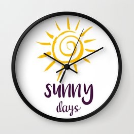 Sunny Days Of Life Wall Clock