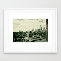 minneapolis Framed Art Prints featuring Minneapolis by Adiel Louv