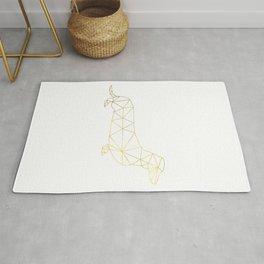 Faux Gold Foil, Gold, Geometric Dog, Wiener Dog Wall Art, Dog wall art, Wiener Print, Dachshund art Rug