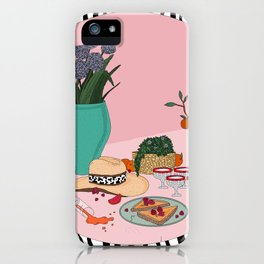 Still life with cowboy hat iPhone Case