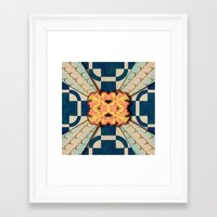 zentangle Framed Art Prints featuring Zentangle by Trevor Seymour