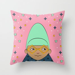 Beehive Babe Throw Pillow