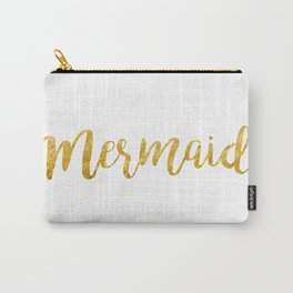 Mermaid Gold foil Carry-All Pouch