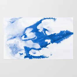 Paint 3 abstract modern art wall art for college dorm school trendy painting brushstrokes water wave Rug