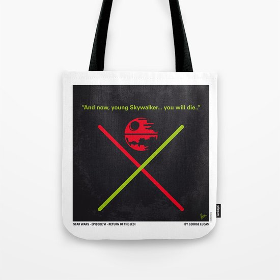 No156 My STAR Episode VI Return of the Jedi WARS minimal movie poster Tote Bag