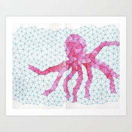 Octopink! Art Print