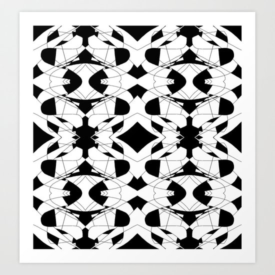 Black and White Tile 2 Art Print