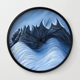 'Twisted Dents du Midi' Wall Clock