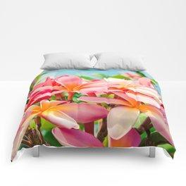 Pua Melia ke Aloha Maui Comforters