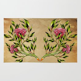 trad ruby roses Rug