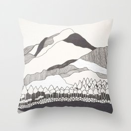 Geodesic Mountain Throw Pillow