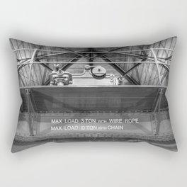 Gantry crane in black and white Rectangular Pillow