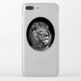Proud Young Lion Clear iPhone Case