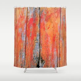 Weathered Wood Shutter rustic decor Shower Curtain
