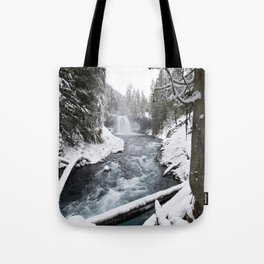 The Wild McKenzie River Waterfall - Nature Photography Tote Bag