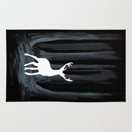 Glowing White Stag Rug