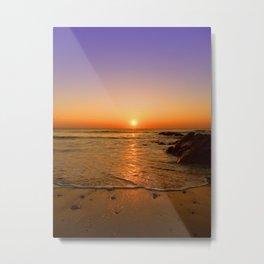 Little Fistral SunSet Metal Print