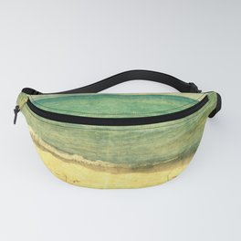 Seascape Vertical Abstract Fanny Pack