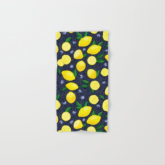 Lemon Blueberry Tart Hand & Bath Towel