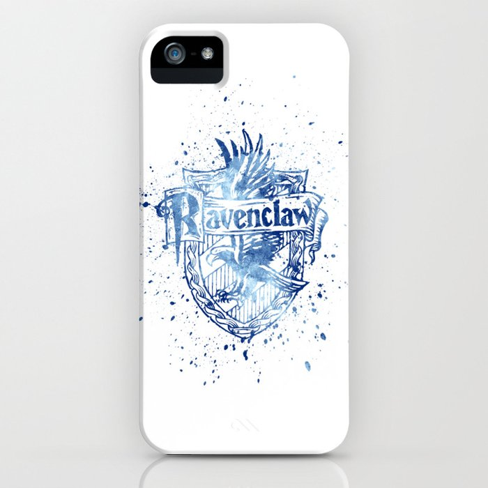 ravenclaw house silhouette splatter iphone case