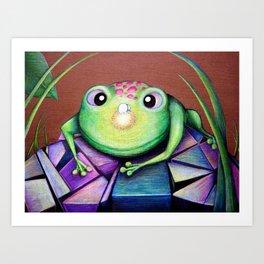 Nosy Frog Art Print