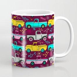Floral Vintage Trucks Coffee Mug