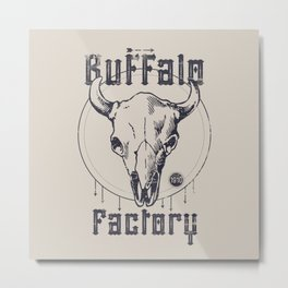 BUFFALO FACTORY  Vintage Skull Metal Print