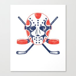 Hockey Mask Winter Sports Ice Hockey Player Gift Canvas Print