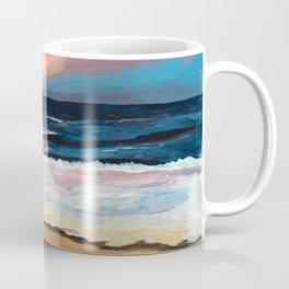 """OBX Sunset"" Beach Art Coffee Mug"