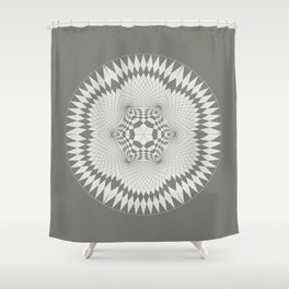 flower of life, alien crop formation, sacred geometry Shower Curtain